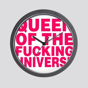 Queen Of The Fucking Universe Wall Clock