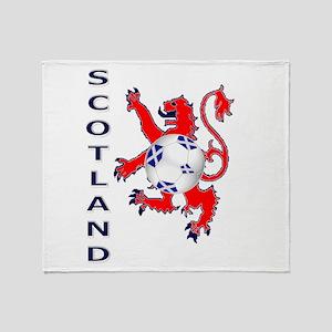 Lion rampant Scotland football Throw Blanket