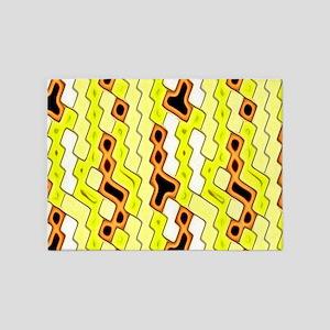 yellow pleasure 5'x7'Area Rug