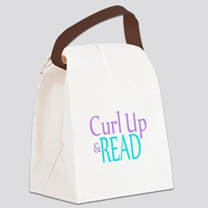 Curl Up and Read Canvas Lunch Bag