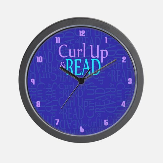 Curl Up and Read Wall Clock