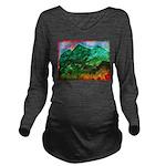 Green Mountains Long Sleeve Maternity T-Shirt