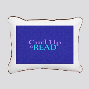 Curl Up and Read Rectangular Canvas Pillow