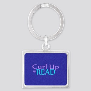 Curl Up and Read Landscape Keychain