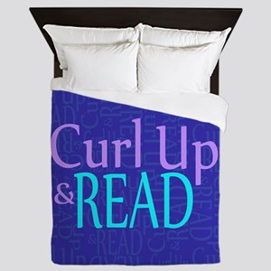 Curl Up and Read Queen Duvet