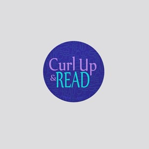 Curl Up and Read Mini Button