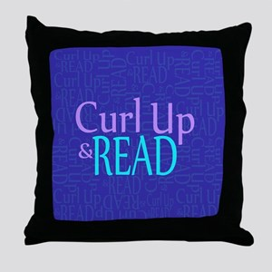 Curl Up and Read Throw Pillow