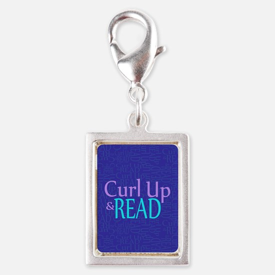 Curl Up and Read Silver Portrait Charm