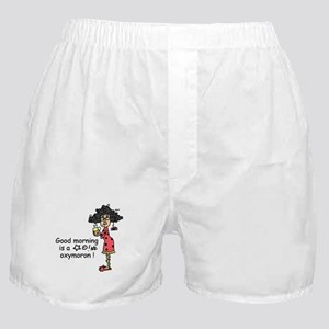 Good Morning Oxymoron Boxer Shorts