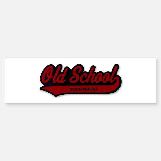 OLD SCHOOL Rock-N-Roll Bumper Bumper Bumper Sticker