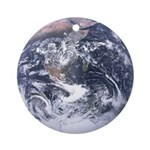 Earth from space Ornament (Round)