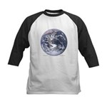 Earth from space Kids Baseball Jersey