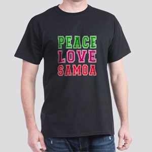 Peace Love Samoa Dark T-Shirt