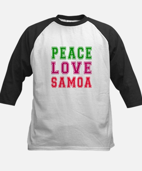 Peace Love Samoa Kids Baseball Jersey