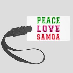 Peace Love Samoa Large Luggage Tag