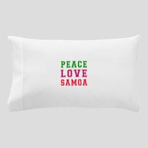 Peace Love Samoa Pillow Case