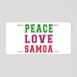 Peace Love Samoa Aluminum License Plate