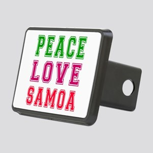 Peace Love Samoa Rectangular Hitch Cover