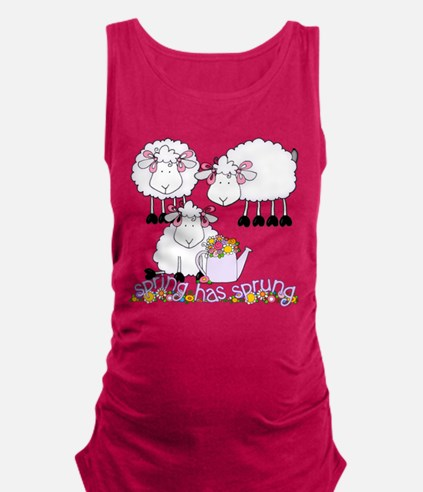 springhassprungsquare.png Maternity Tank Top