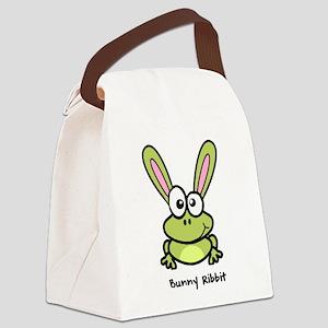 Bunny Ribbit - Rabbit Frog Canvas Lunch Bag