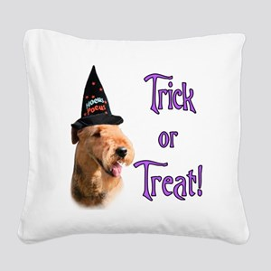 Airedale TerrierTrick Square Canvas Pillow
