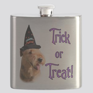 Airedale TerrierTrick Flask