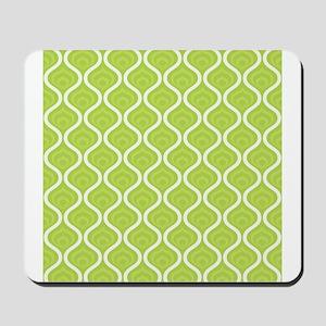 Green Retro Waves Mousepad