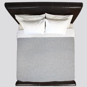 Grey Linen King Duvet