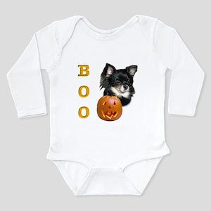ChihuahuaBoo2 Long Sleeve Infant Bodysuit