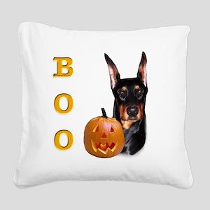 DobermanBoo2 Square Canvas Pillow