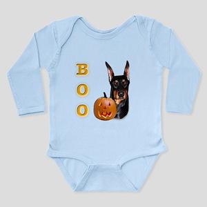 DobermanBoo2 Long Sleeve Infant Bodysuit