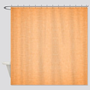 Orange Linen Shower Curtain