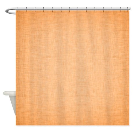 Orange Linen Shower Curtain By ColorfulPatterns