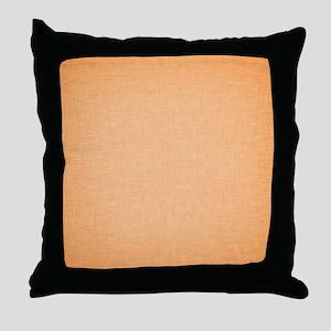 Orange Linen Throw Pillow