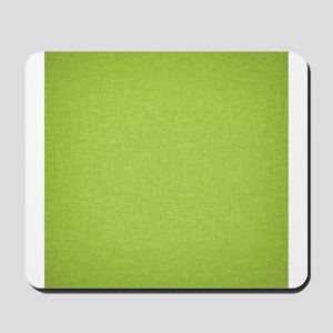 Green Linen Mousepad