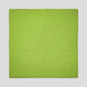 Green Linen Queen Duvet