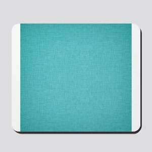 Blue Linen Mousepad