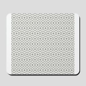 Grey Hexagon Honeycomb Mousepad