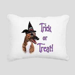 GreyhoundbrindleTrick Rectangular Canvas Pillo