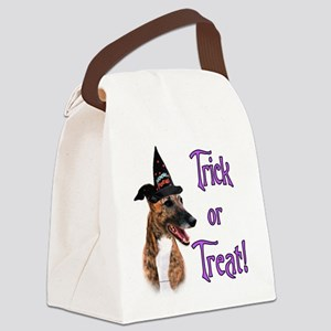GreyhoundbrindleTrick Canvas Lunch Bag
