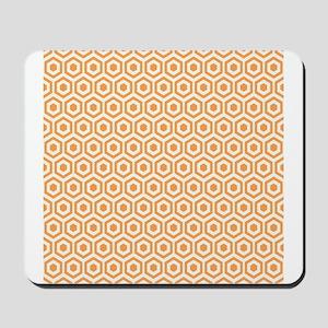 Orange Hexagon Honeycomb Mousepad