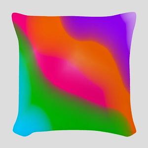 Rainbow Sherbet watercolors Woven Throw Pillow