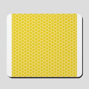 Yellow Honeycomb Mousepad