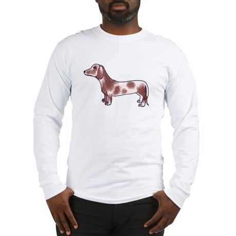 Long Sleeve T-Shirt: Piebald Dachshund