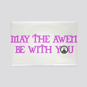 Awen be with you Rectangle Magnet