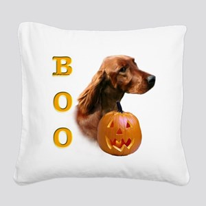 IrishSetterBoo2 Square Canvas Pillow