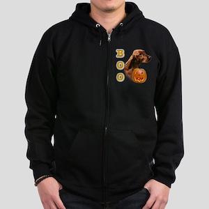 IrishSetterBoo2 Zip Hoodie (dark)