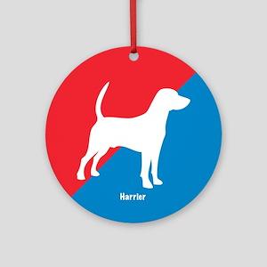 Harrier Diagonal Ornament (Round)