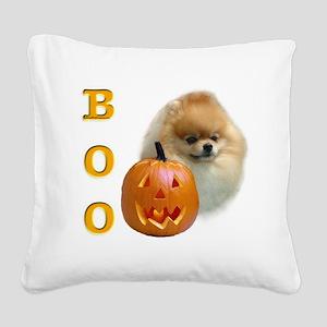 PomeranianBoo2 Square Canvas Pillow