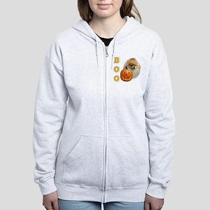PomeranianBoo2 Women's Zip Hoodie